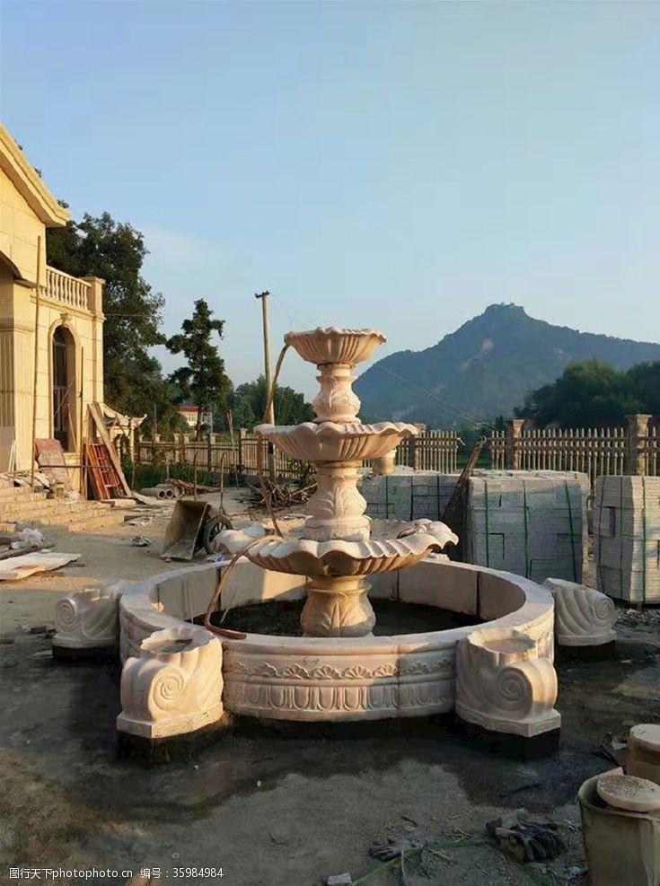 石材喷泉景观