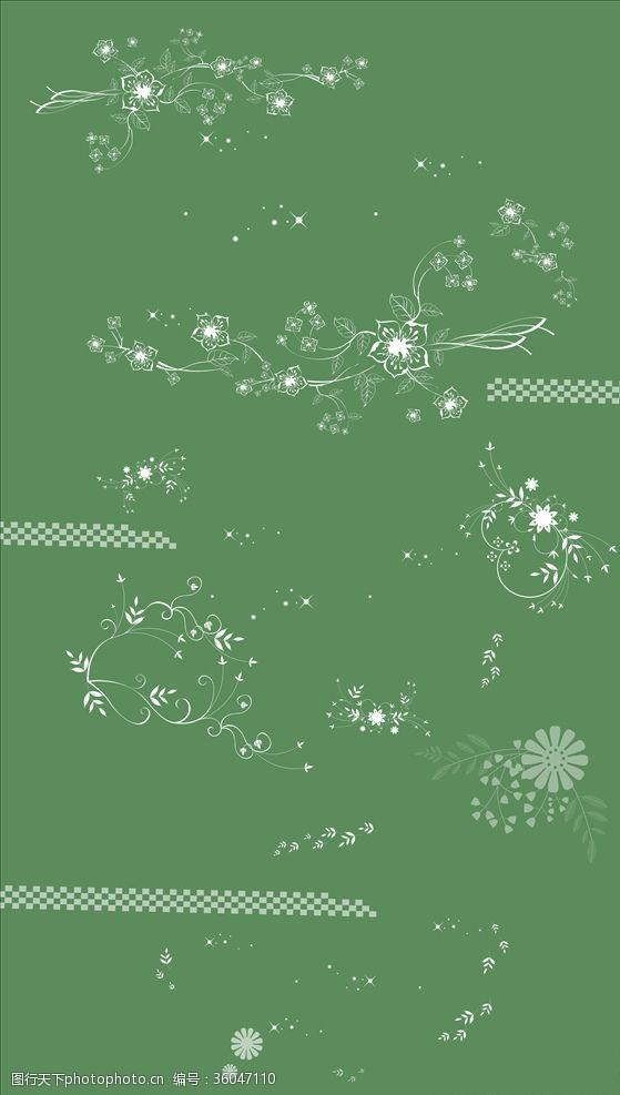 星星亮点花纹花边框页面装饰