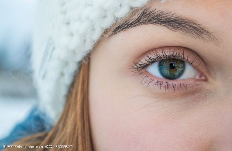 眼部特写欧美女孩眼睛高清特写