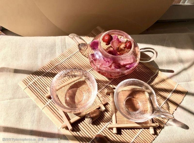 玫瑰花茶山楂红枣玫瑰茶