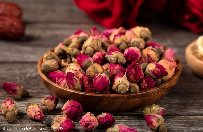 玫瑰花苞精品玫瑰花茶