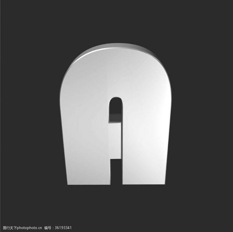 手绘素描字母字母a