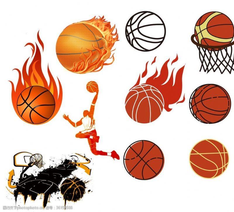 篮球剪影篮球素材