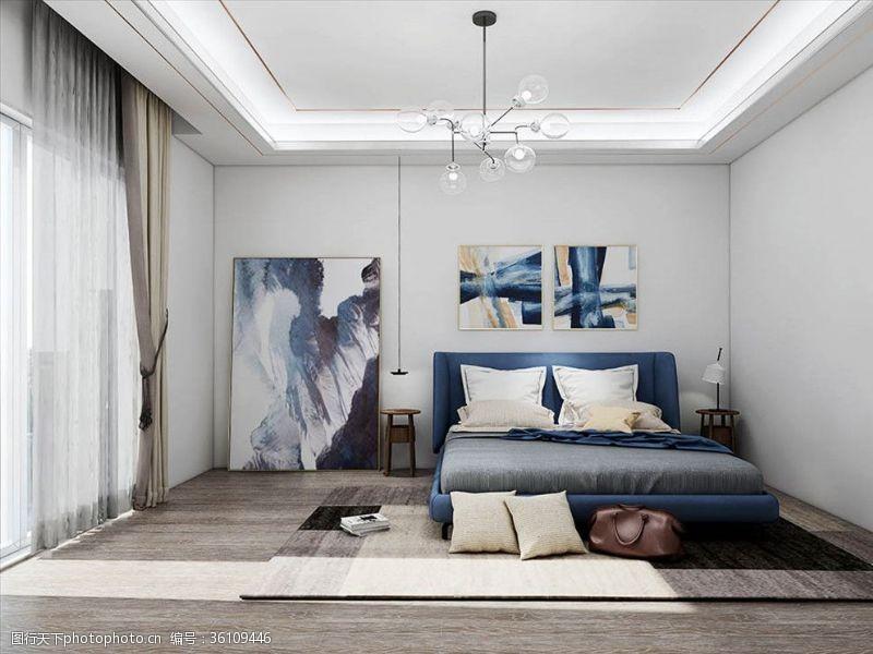木质家具北欧卧室
