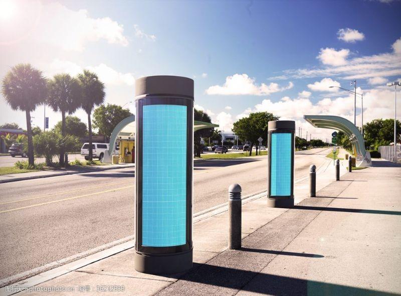 街区广告路边灯箱广告