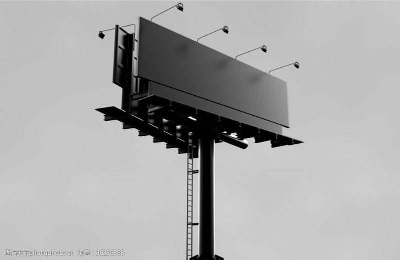 街区广告T拍模型