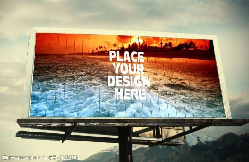 街区广告高速T牌
