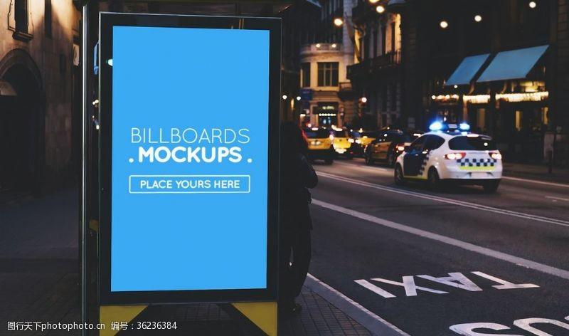 街区广告美国灯箱