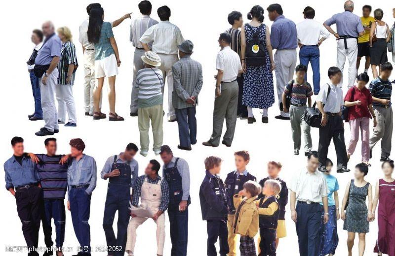 人物图片素材人群