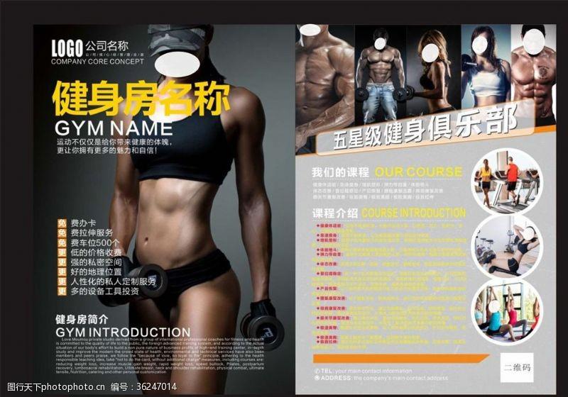 自由搏击健身单页