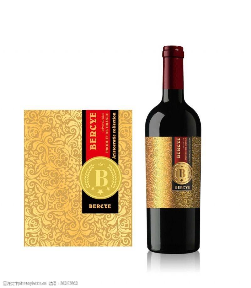 红酒酒标标签包装