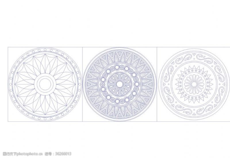 菜谱系列CAD水刀拼花图案设计