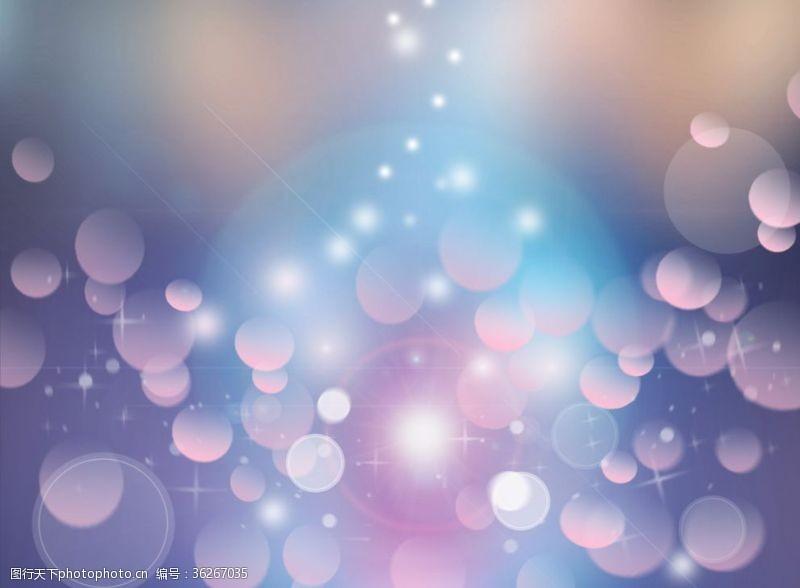 梦幻星光背景紫色梦幻背景