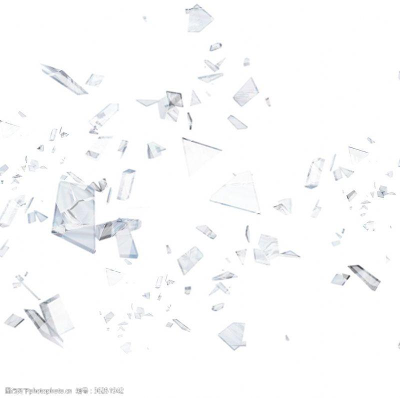炸裂破碎玻璃元素