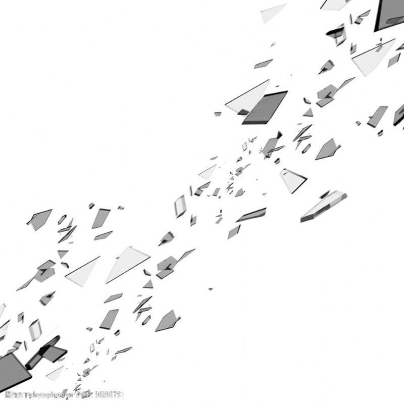 炸裂爆炸碎片素材
