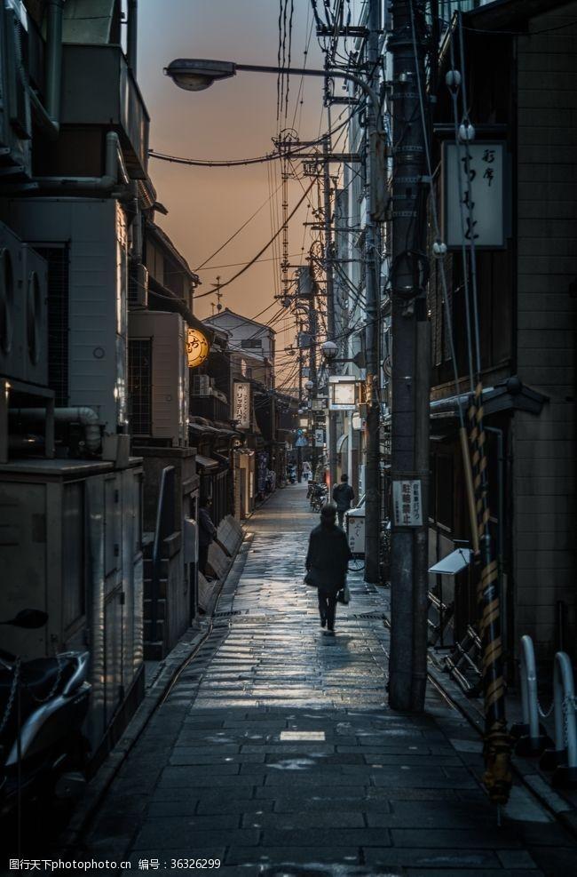 日本老市区街道