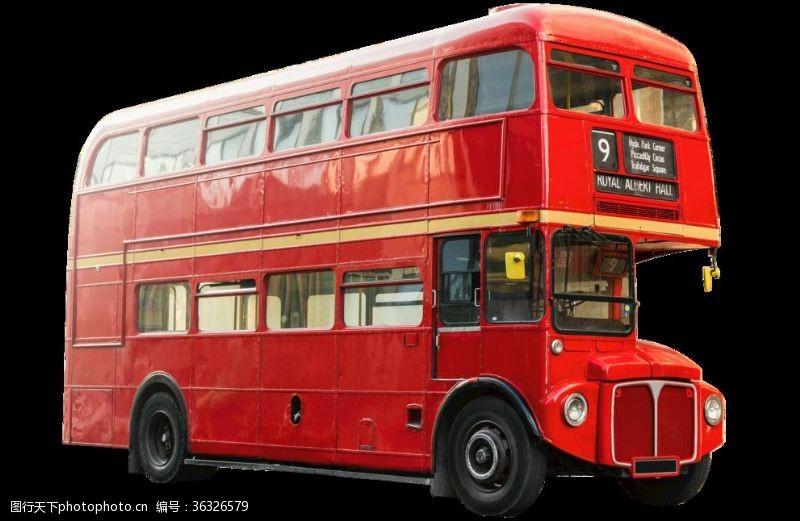 欧洲建筑英国街头双层巴士