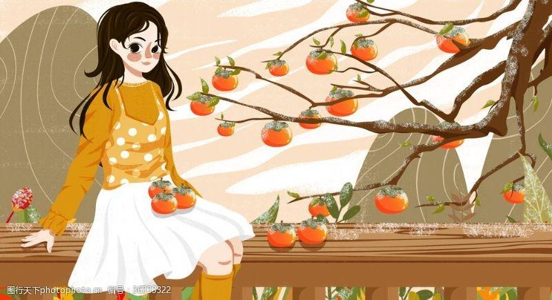 春季候气创意插画