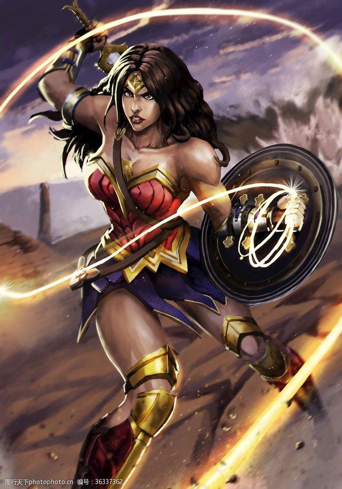 天堂岛DC超级英雄神奇女侠同人形象