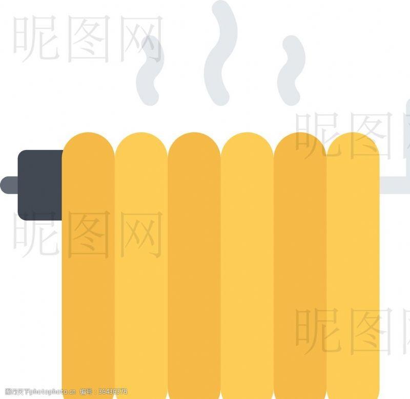 人字梯暖气片UI标识标志