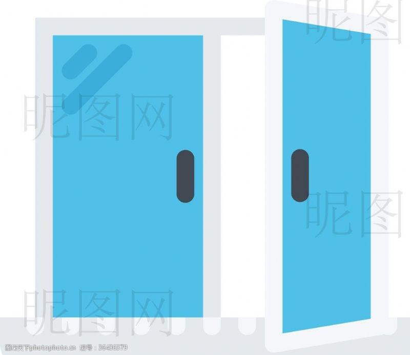 人字梯入户门UI标识标志
