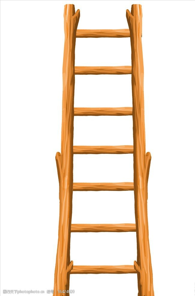 梯子木梯卡通梯子素材