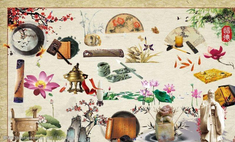 古典文化展板中国古典文化素材