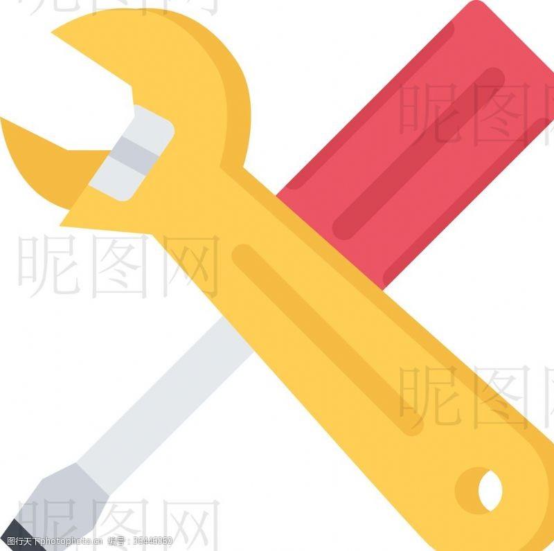 人字梯扳手螺丝刀UI标识标志