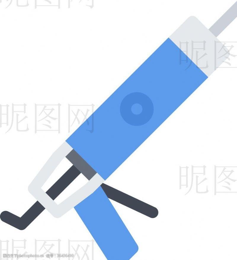 人字梯钉枪UI标识标志