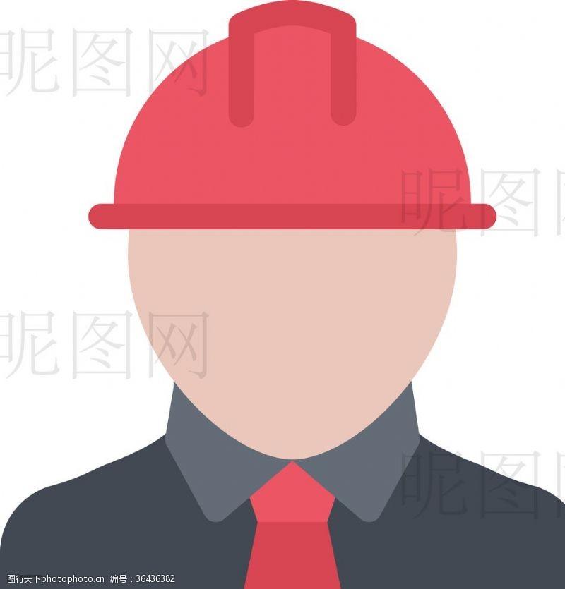 人字梯建筑工人