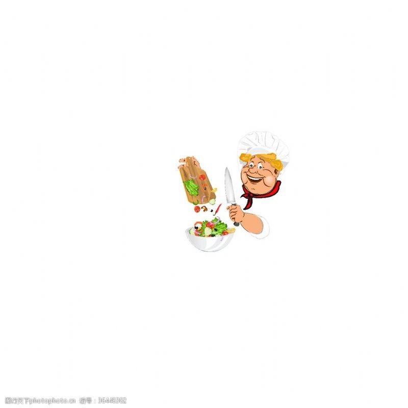 ok手势厨师图片卡通设计素材