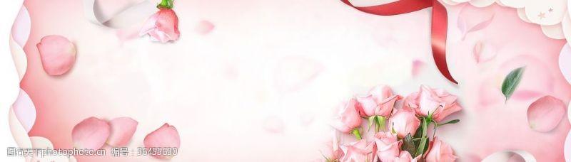 情人节专题花卉背景