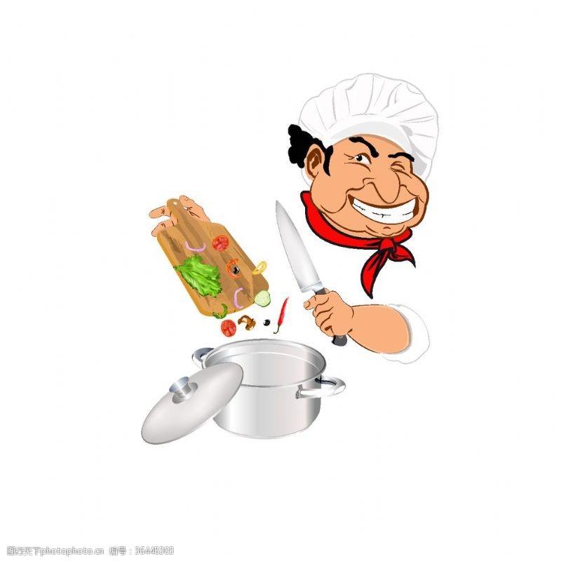 ok手势卡通厨师素材设计