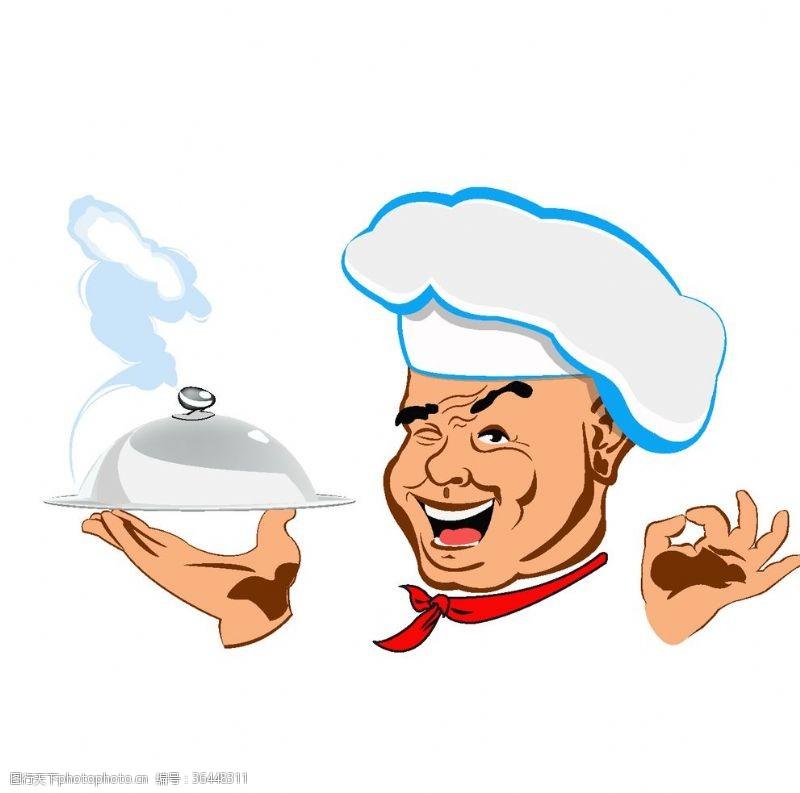 ok手势卡通厨师图片素材