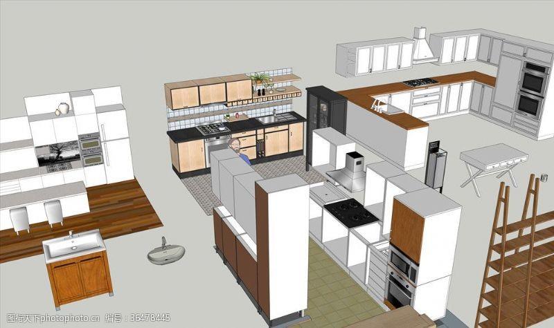 3d设计模型宜家IKEASKP厨房