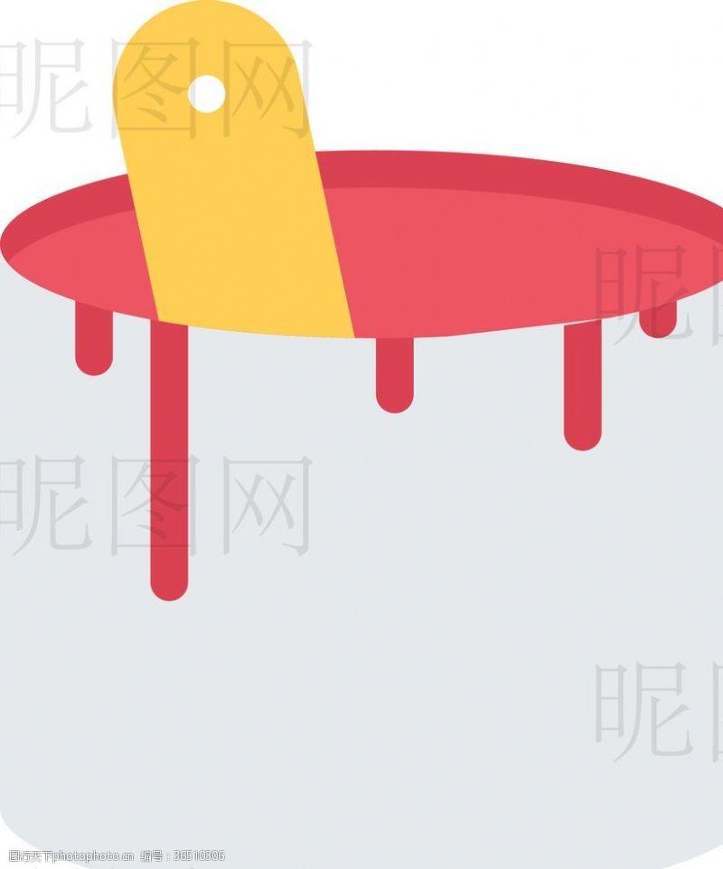 人字梯油漆桶UI标识标志