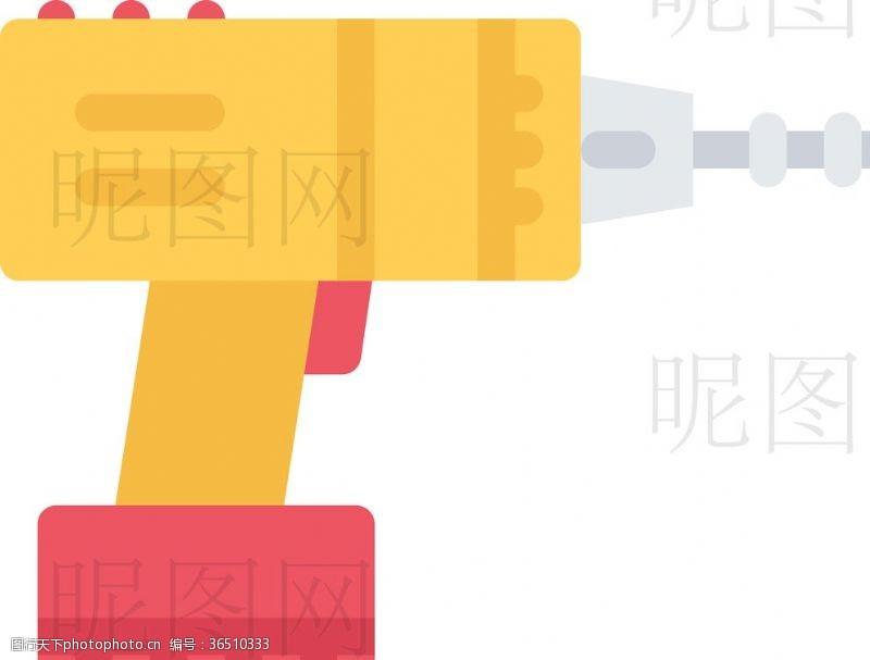 人字梯电钻UI标识标志