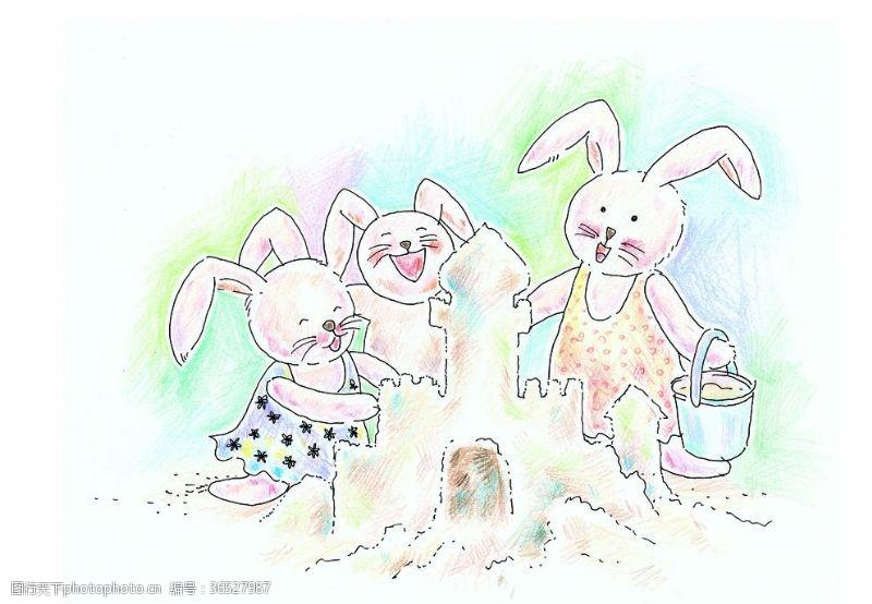 欢乐家庭小兔一家亲