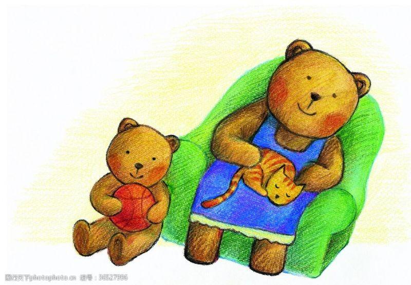 欢乐家庭小熊家庭卡通