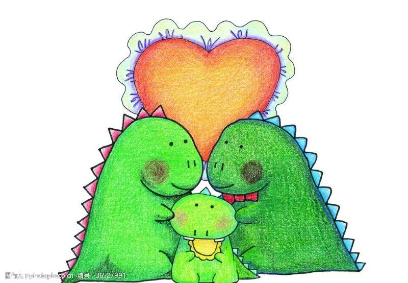 欢乐家庭小恐龙一家亲