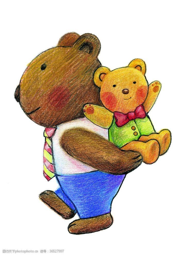 欢乐家庭小熊卡通