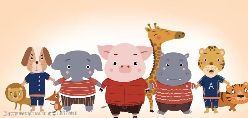 动物卡通画背景