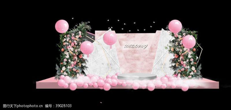 环境设计 粉色婚礼场景图片
