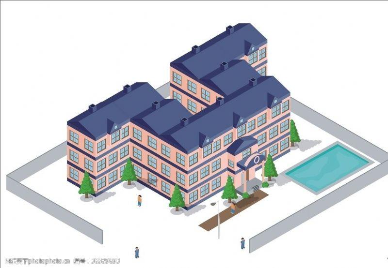 3d楼房企业