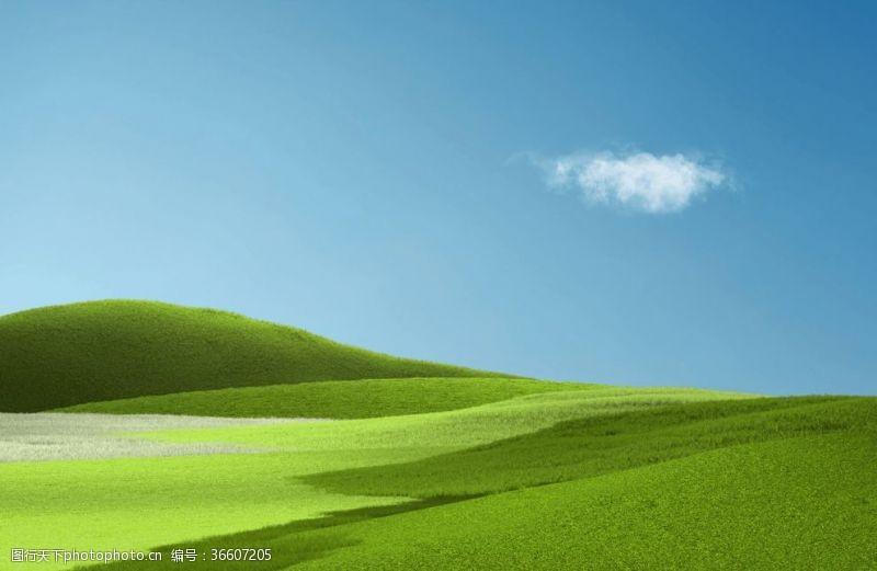 电脑合成自然合成绿色草原草地壁纸