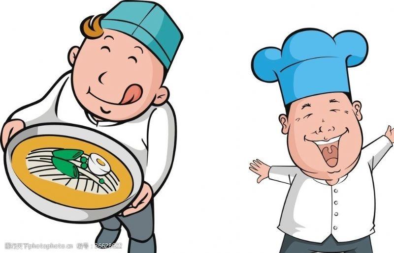 厨师卡通人物厨师