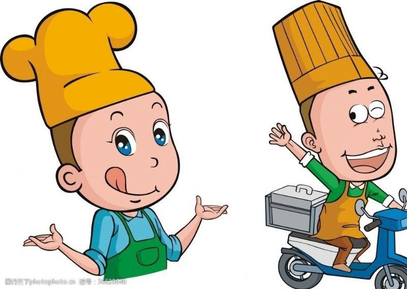 厨师卡通人物厨师外卖员