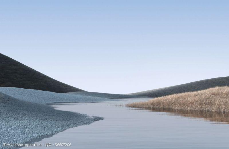 电脑合成自然合成山水天空壁纸