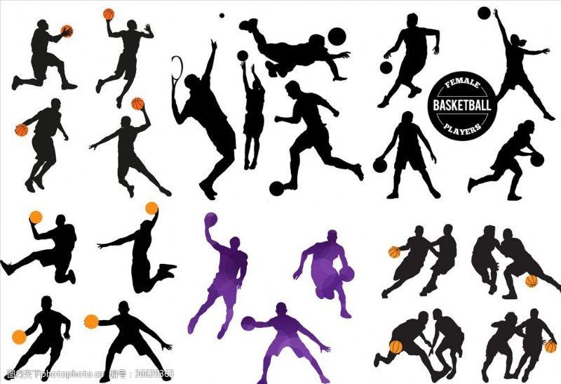 篮球剪影剪影打篮球