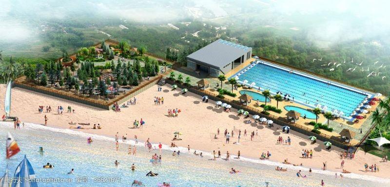 景观规划游泳池